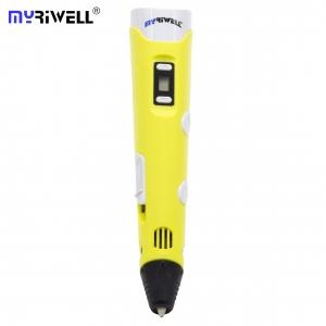 3D Ручка MyRiwell RP-100B Оригинал С LCD Экраном Желтая (Yellow)