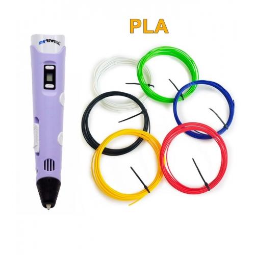 3D-Ручка MyRiwell RP-100B + 30 м PLA (6 кольорів). Набір START