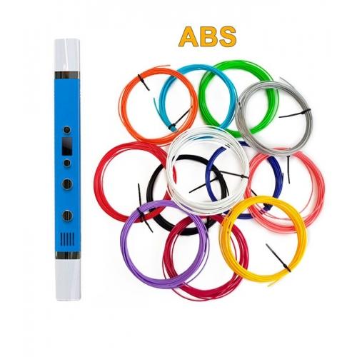 3D-Ручка MyRiwell RP-100C + 60 м ABS (12 цветов). Набор PRO.