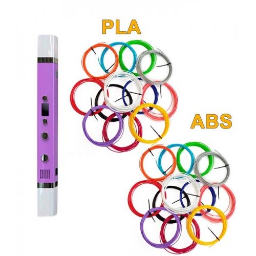 3D-Ручка MyRiwell RP-100C + 120 м ABS та PLA (по 12 кольорів). Набір MEGA