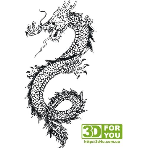 Дракон (трафарет для 3D ручки)