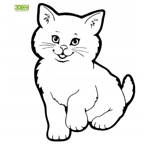 Котенок (трафарет для 3D ручки)